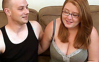 Hot BBW Girlfriend With Glasses First Time Porn