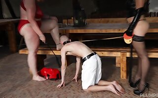 Dominika and Diana want to experience BDSM and a torture with a dude