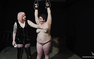 Chubby amateur tied up and tortured by her kinky friend. HD video
