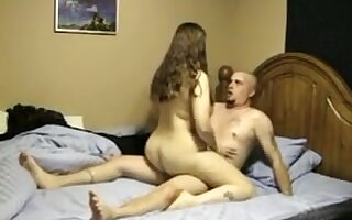 GF Acquire s Doggy Position Quickie In The Kitchen