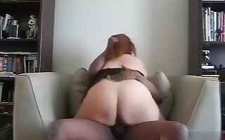Older big beautiful woman sub at work, see her ride