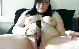 Highly Lewd Plump big beautiful woman GF masturbating her Juicy Pink Bawdy Cleft