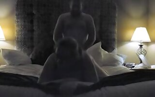 BBW man hotel sucking and fucking