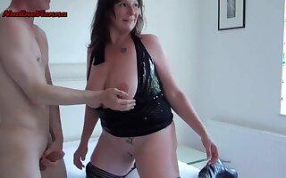 Grown-up son gangbang porn video