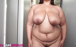 Buttercream - Fortress Pass be useful to Cream - BBW fatty helter-skelter saggy tits solo